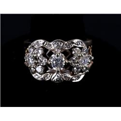 14K Gold & White Gold Diamond Ring