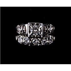 Platinum Diamond Wedding Ring Set