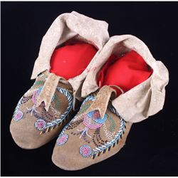 Santee Sioux Beaded Moccasins c. 1880-1890