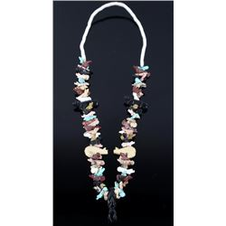 Navajo Carved Animal Effigy Necklace