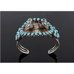 Sterling Silver Petite Point Turquoise Bracelet