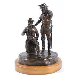 Two Star Generals Bronze Statue By J J Star