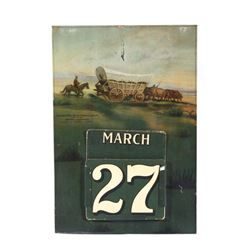 Springfield Fire & Marine Ins. Co. Tin Calendar
