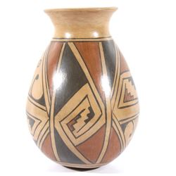 Signed Acoma Polychrome Pottery Jar