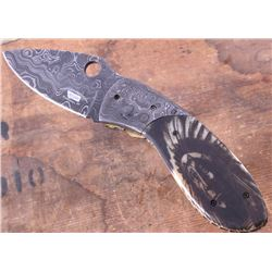 Montana Territory Knives Indian Chief Damascus