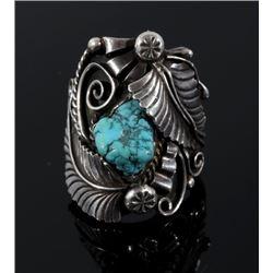 Signed Ornate Navajo Sterling Silver Ring