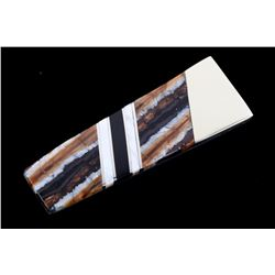 Wooly Mammoth Tooth & Mother of Pearl Money Clip
