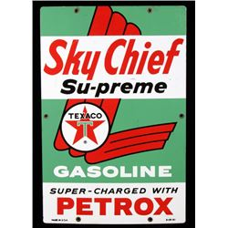 1961 Texaco Sky Chief Supreme Gas Advertising Sign