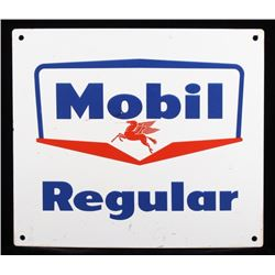1950's Mobil Regular Gasoline Advertising Sign