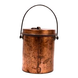 Hudson Bay Co. Copper Pale w/ Lid 19th Century
