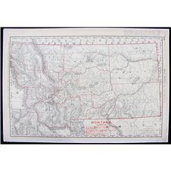 Rand, McNally Montana Railway Map 1901