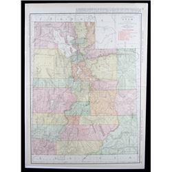 Rand, McNally & Co. 1912 Utah Railway Map