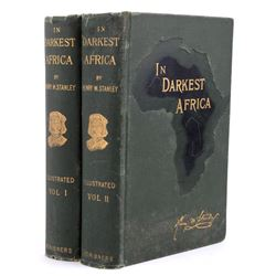In Darkest Africa by H.M. Stanley Early Ed.--Maps
