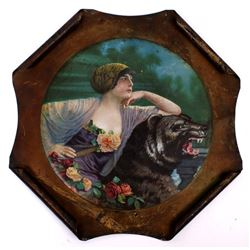 1748 Victorian Woman w/ Bear Iron Picture