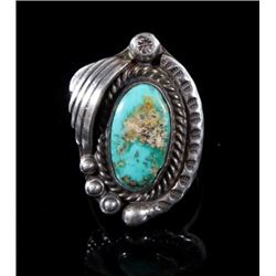 Navajo Sterling Silver & Turquoise Cocktail Ring