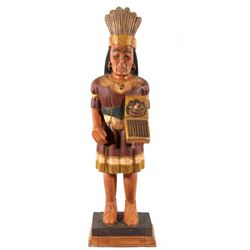 Cigar Store Indian Carved Wood Trade Sign
