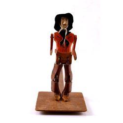 19th Century Folk Art Dancing Cowboy Figure