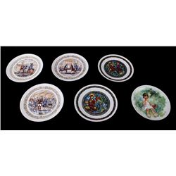 Certified French Decorated Collectors Plates
