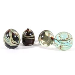 Collection of Polychrome Glass Art Paperweights