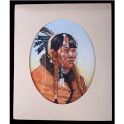 "Native Portrait Tiltled ""Mandan"" by Tom Saubert"