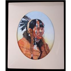 "Native Portrait Tiltled ""Mandan"" by Tom Saubert"