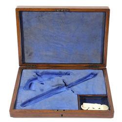 Oak Dueling Revolver & Knife Parlor Case