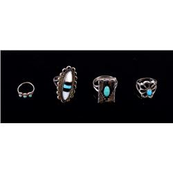 Navajo Sterling Silver Turquoise Rings