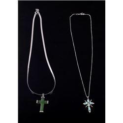 Navajo Multi- Stoned Silver Crosses