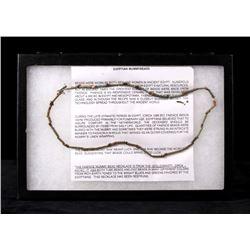 26th Egyptian Dynasty Faience Mummybead Necklace
