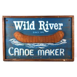 Hand Painted Canoe Maker Advertising Sign