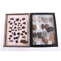 Native American Arrowhead Artifacts Collection