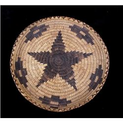1950's Hand Woven Papago Indian Coil Tray Basket
