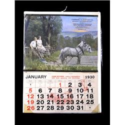 1930 Farmers Elevator Co. Illustrated Calendar