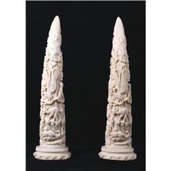 Faux Ivory Animal Decorative Tusks