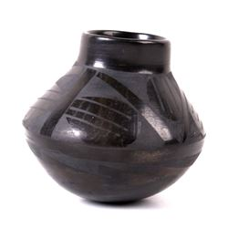Native American Round Bottomed Vase by JSS