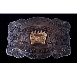Nev. Jr. Hereford Assn. Silver Queen Buckle