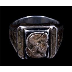 Anglo Saxon Signet Warrior Pictorial Ring