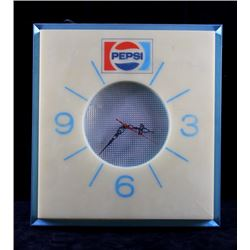 Old Stock Lighted Pepsi-Cola Wall Clock