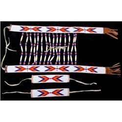 Native American Indian Bead Breast Collar & Cuffs