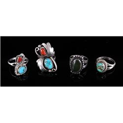 Navajo Turquoise & Sterling Silver Old Pawn Rings