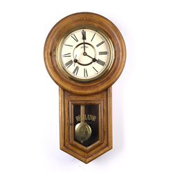 Antique Oak Regulator Wall Clock