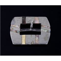 Northwest Coast Silver & Abalone Buckle
