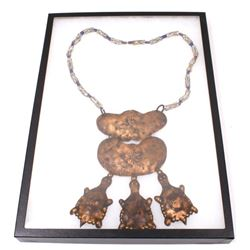 Hudson Bay Copper Plate Turtle Trade Necklace