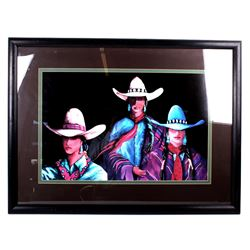 Doreman Burns Cowgirl Framed Print