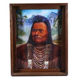Chief Joseph Oil On Canvas Painting