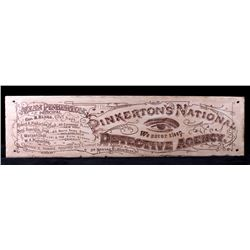 Allan Pinkerton National Detective Agency Sign
