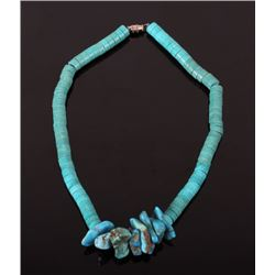 Navajo Turquoise Heishe and Nugget Necklace