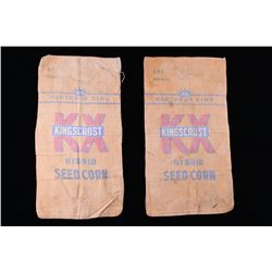 Pair of Northrup King Kingscrost Seed Corn Bags