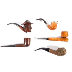 Collection of Assorted Wooden Smoking Pipes