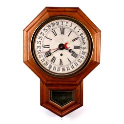 E.N. Welch Pendulum Octagon Eight Day Wall Clock